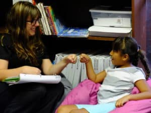 Fist Bump for a Job well done in Speech Therapy