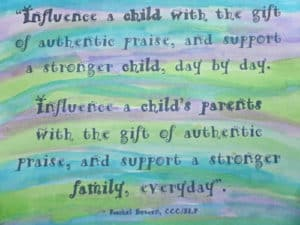 Positive parental praise makes all the difference.