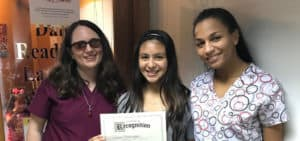 Student graduating from Speech therapy and reading program