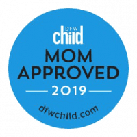 Mom approved Award 2019 from Dallas child Magazine